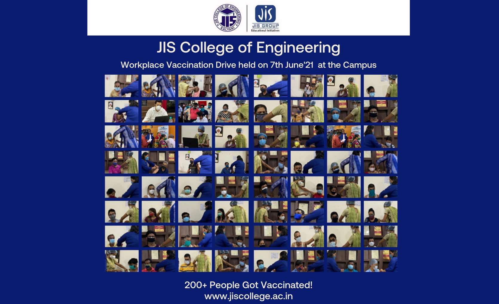 JIS College of Engineering vaccinates all the staff members and their family