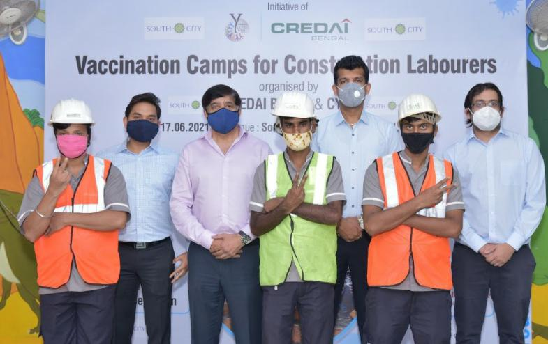 CREDAI Bengal supported by the CREDAI Youth Wing (CYW) starts Vaccination Camps for Construction Workers