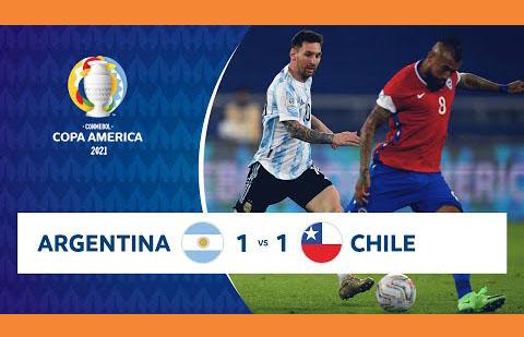 কোপা আমেরিকার ⚽ আর্জেন্টিনা vs চিলি  ১-১ গোলে ড্র