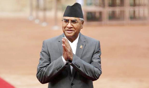 নেপালের নতুন প্রধানমন্ত্রী শের বাহাদুর দেউবা