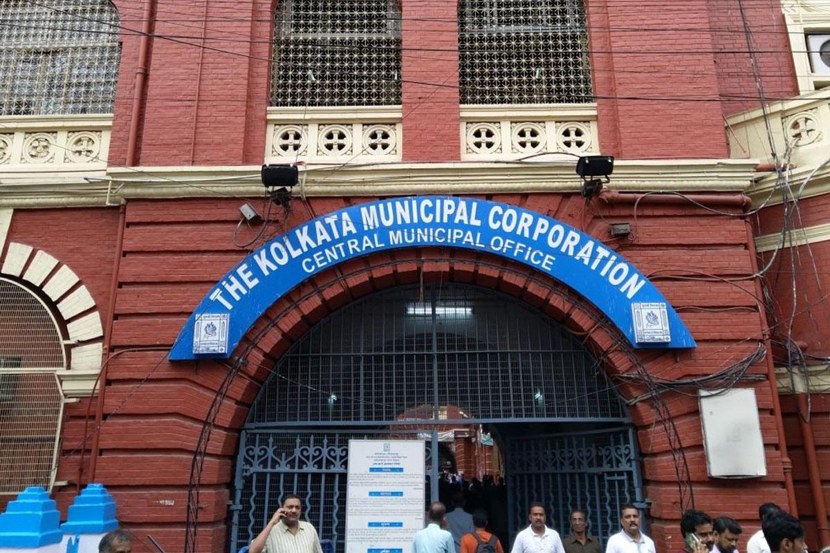 কলকাতা পৌরসভা বিল্ডিংয়ে আগুন